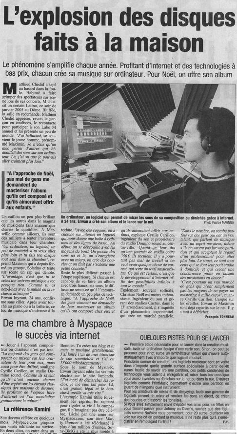 Article La Provence 2007
